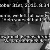 They Put Out Halloween Candy On The Honor System. What Did Hidden Camera Catch?