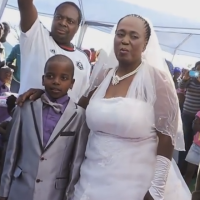 {VIDEO} 9 Year Old Boy Weds 62 Year Old Bride In South Africa!