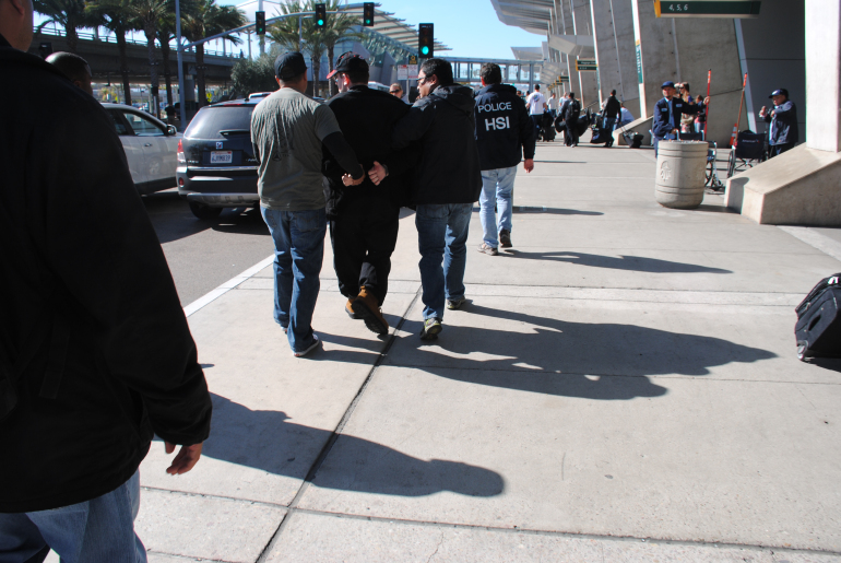 Joel Wright, 23, was arrested by undercover federal agents at San Diego International Airport on Jan. 29, 2016, officials said. (Credit: U.S. Immigration and Customs Enforcement)