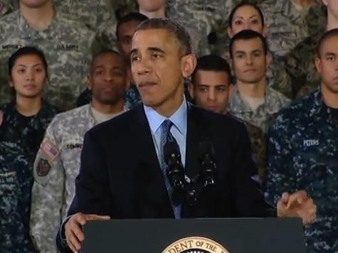 President Obama's Joke Calling Troops 'Santa in Fatigues' Silences Audience
