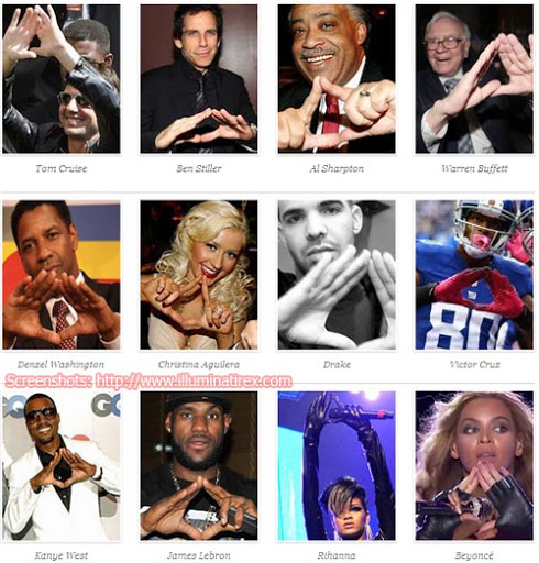 celebrities illuminati satanic hand signs