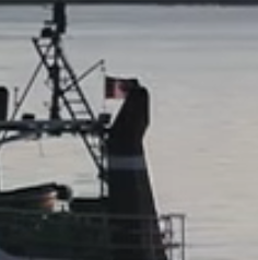 And the flag on the boat appears to be Canadian: