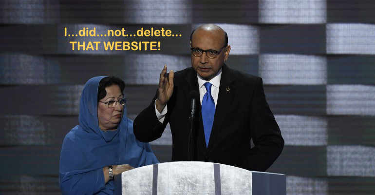 Khizr Khan Deleted His Muslim Law Site, But I Have It Here For You! Share and save, while it still works!