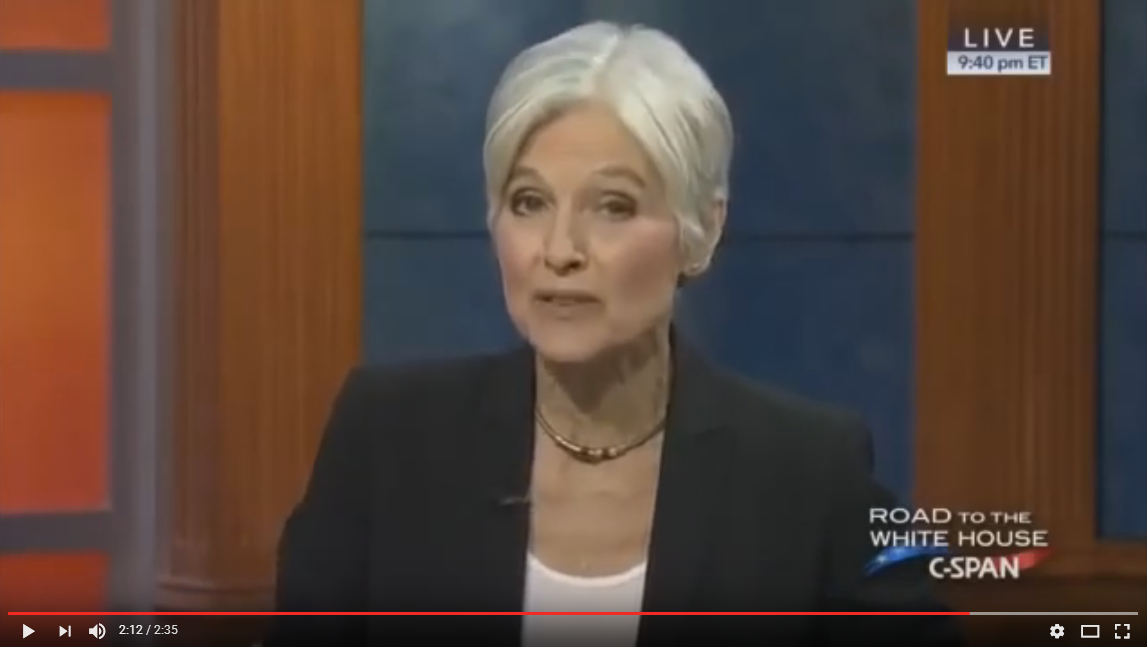 Jill Stein Announces Her Choice of Trump Over Clinton; She Will Start Nuclear War With Russia {VIDEO}