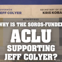 The ACLU put out a flier critical of Kris Kobach, Praising Colyer, and Kobach LOVES it!