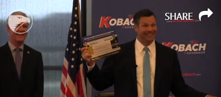KOBACH DELIGHTED